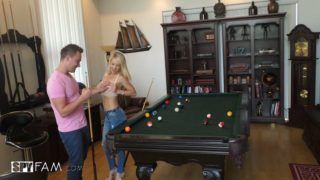 Laura Bentley Is Getting Creampie On Billard Table