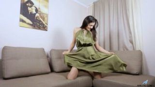 Lonely and horny leggy cutie Isha loves tenderly to masturbate her wet pussy.